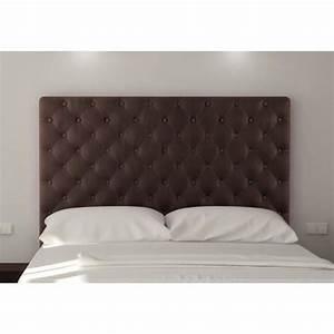 Tete De Lit Tissu : sogno t te de lit capitonn e 160 cm tissu marron achat ~ Premium-room.com Idées de Décoration