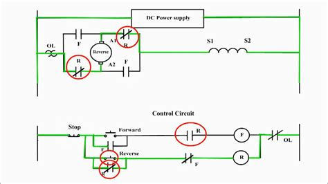 reversing the direction of rotation of a dc compound motor dc motor forward
