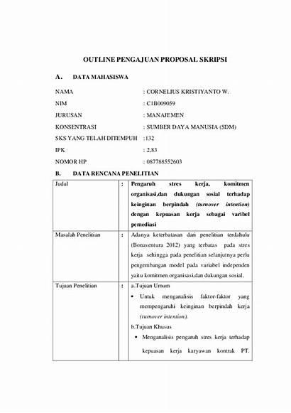 Outline Skripsi Proposal Contoh Penelitian Pengajuan Akuntansi