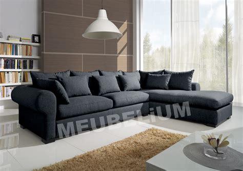canapé d 39 angle en tissus 6 places
