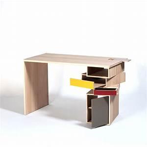 Bureau Avec Rangement : bureau en bois massif design empil par drugeot labo ~ Teatrodelosmanantiales.com Idées de Décoration