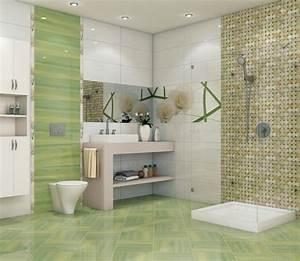 beautiful faience vert et blanc images design trends With faience salle de bain vert