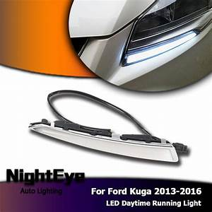 2x Led Drl Daytime Running Light Turn Signal For Ford Kuga