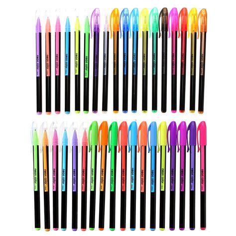 colors gel  set adult coloring book ink pens drawing