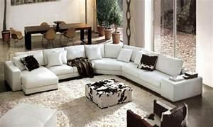 le canape d39angle en cuir 60 idees d39amenagement With tapis de course pas cher avec canapé d angle petit espace