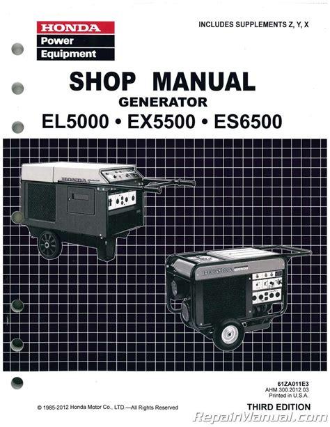 honda el es  generator shop manual