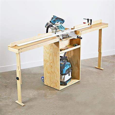 portable mitersaw stand plan  wood magazine