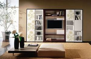 Big Storage Unit With Tv Ipc197 - Wall Storage Cabinets