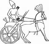 Chariot Horse Clipart Carriage Egyptian War Drawing Cart Charioteer Clip Drawn Egypt Ancient Coloring Pages Comic Svg Draw Horses Drawings sketch template