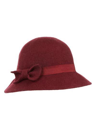 womens red felt cloche hat tu clothing
