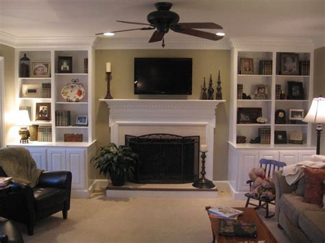 Living Room With Fireplace And Bookshelves by Built In Bookcases Around Fireplace Images