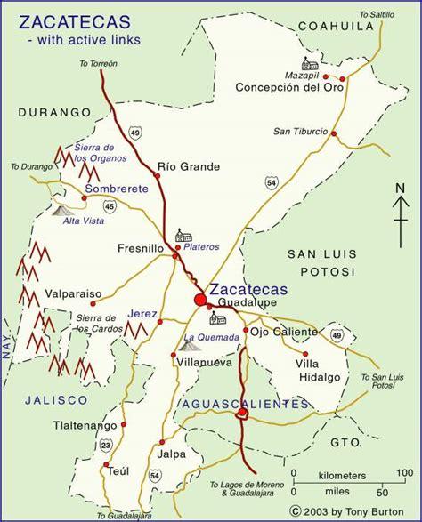 zacatecas mexico map