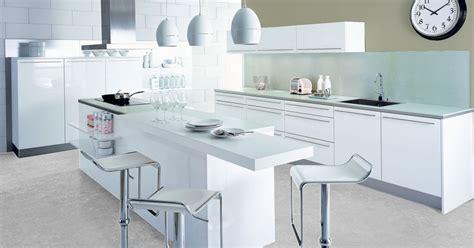 plan ilot cuisine la cuisine blanche par cuisinella