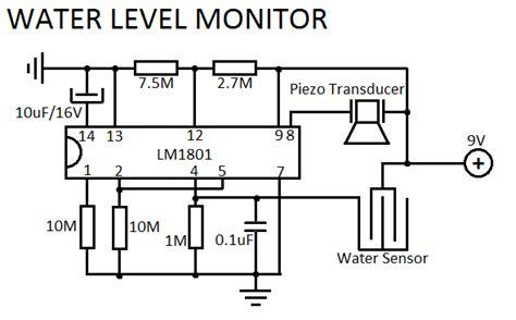 Water Level Sensor Schematics