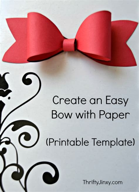 printable paper bow template    package