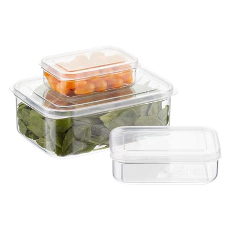 container cuisine clear rectangular food storage the container store