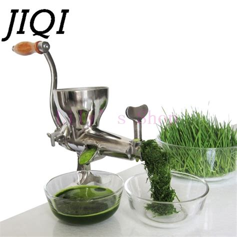 juicer wheatgrass manual hand stainless auger steel orange squeezer fruit grass jiqi slow wheat juice vegetable press extractor