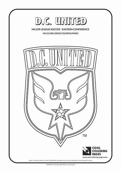 Coloring Pages United Logos Soccer Mls Cool