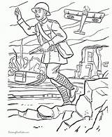 Army Coloring Printable Everfreecoloring sketch template