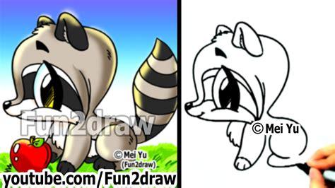 draw  raccoon eating   clip art