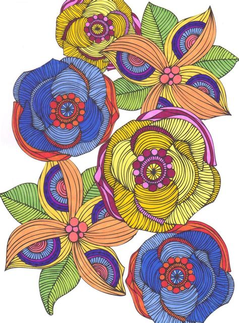creative coloring creative coloring flowers activity pages to relax and