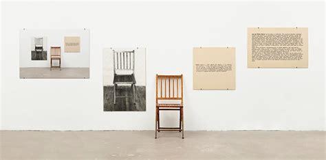 joseph kosuth one and three chairs dimensions 1 e 3 1 e 3 sedie