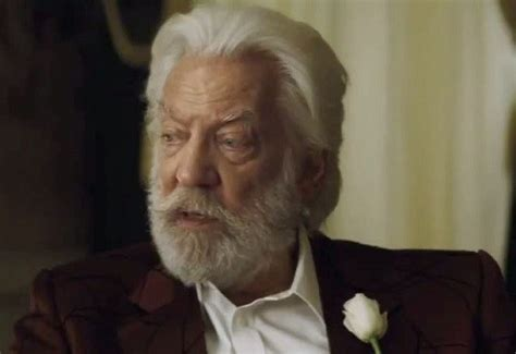 donald sutherland president snow president snow hunger games quotes quotesgram