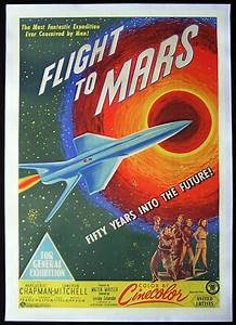 FLIGHT TO MARS 1951 Sci Fi Classic RARE One sheet Movie poster