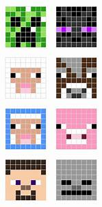 minecraft pixel art templates all for the boys With minecraft skin template grid