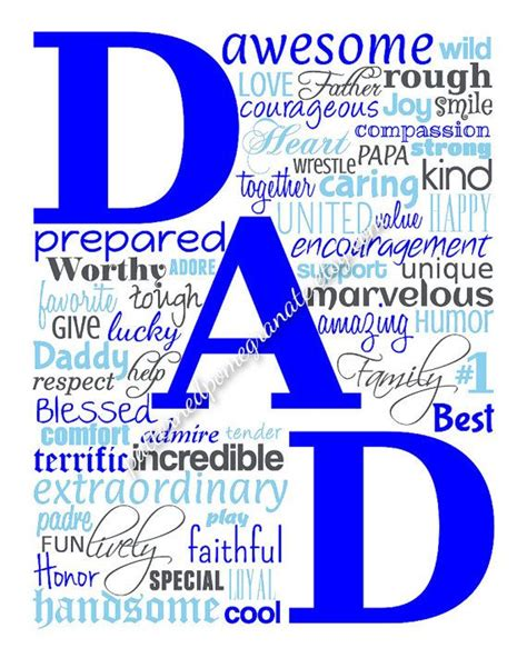 father s day gift dad typography printable wall sign 8x10