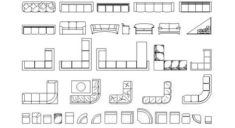 sofa 3 plazas dwg librer 237 as de bloques autocad sof 225 s en planta de 4 plazas