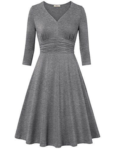 3 4 Sleeve Dress,Bebonnie Women Ruched Waist Cocaktail ...