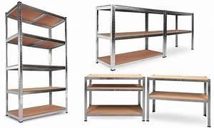 Rangement Plafond Garage : etagere garage pas cher ~ Melissatoandfro.com Idées de Décoration