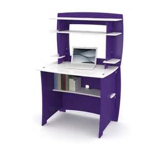 legare 36 in desk with hutch purple white at hayneedle