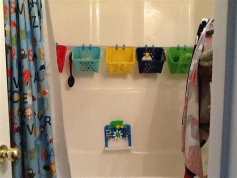 Organize Kids Toys With A Tension Rods And Plastic Dollar