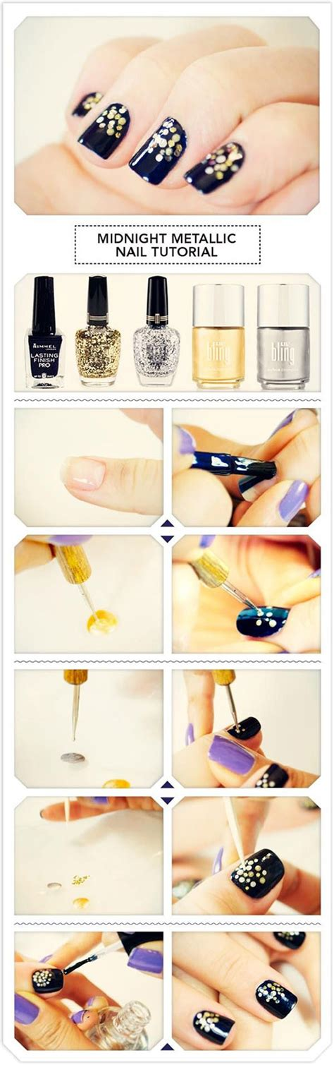 Easy & Simple New Year Nail Art Tutorials 2014 2015 For