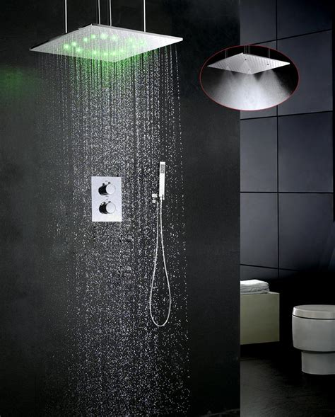 luxury bathroom faucet set water temperature led