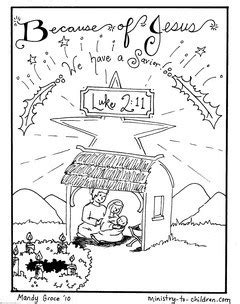 nativity coloring pages jesus
