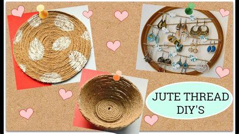 3 Easy Jute Thread Diy I Rope Crafts I Jute Decor At Home