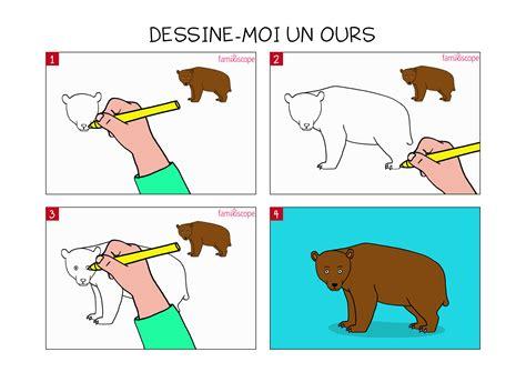 apprendre 224 dessiner un ours en 3 233