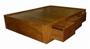Lit Tiroir 140 : lit tiroirs 140x190 ba 085 140x190 et a2d meubles tahiti et ~ Teatrodelosmanantiales.com Idées de Décoration