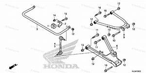 Honda Side By Side 2014 Oem Parts Diagram For Rear Arm