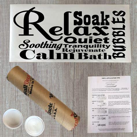 Spa Bathroom Wall by Relax Spa Bathroom Lettering Bath Word Vinyl Decor