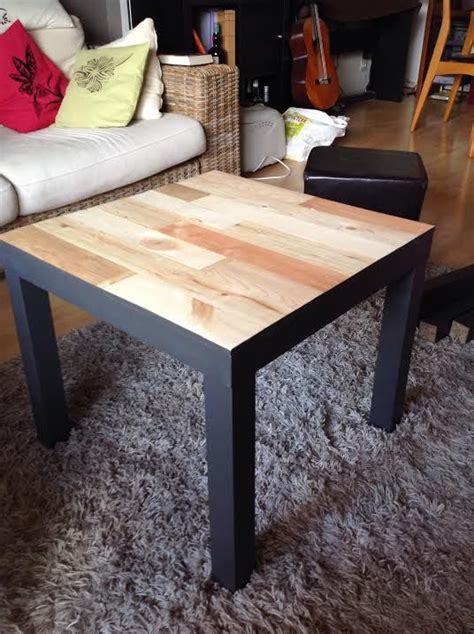 Customiser Une Table Basse Table Basse Ikea Customiser Le Bois Chez Vous