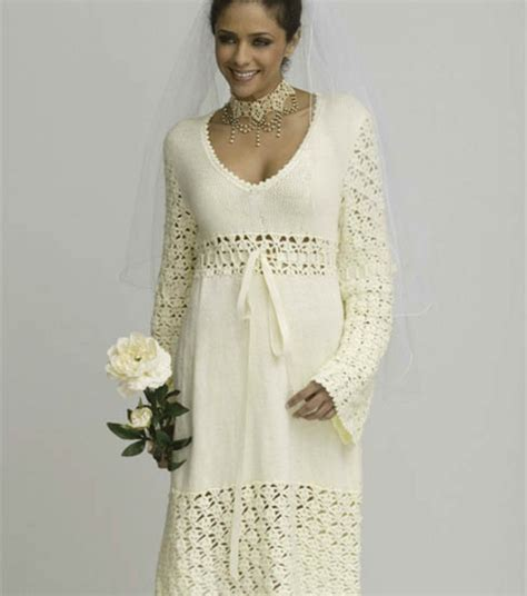 Crochet Wedding Dress Patterns And Wedding Accessories To