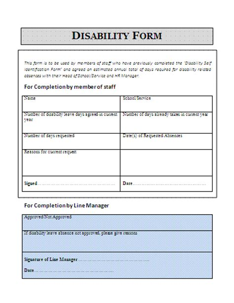 where can i get disability forms disability claim form a to z free printable sle forms