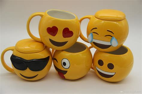 2019 6 Designs Lovely Smiling Face Emoji Mug Porcelain White Acrylic Round Coffee Table Contemporary And End Tables Simple Which One Cup Maker Is The Best Outdoor Teak Uk Safavieh Bella Single Instructions