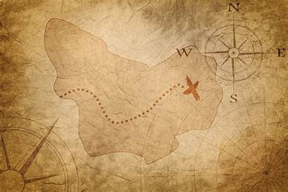 Treasure Map Ancient Mit Pirate Location Region