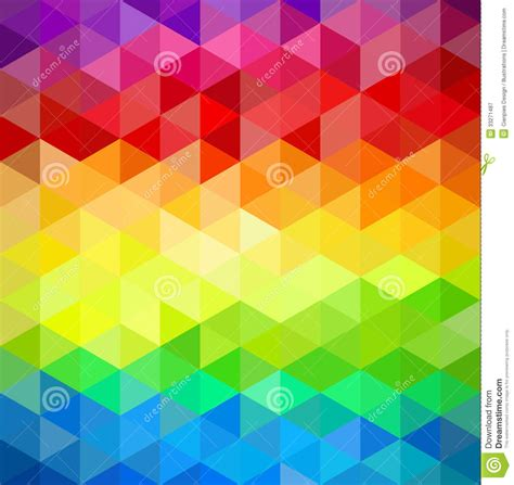 colorfull vintage abstract geometric pattern stock vector