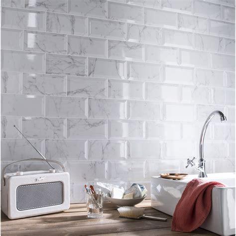 faience metro cuisine faïence mur blanc métro carrare l 10 x l 20 cm leroy merlin